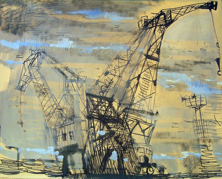 cranes industrial painting