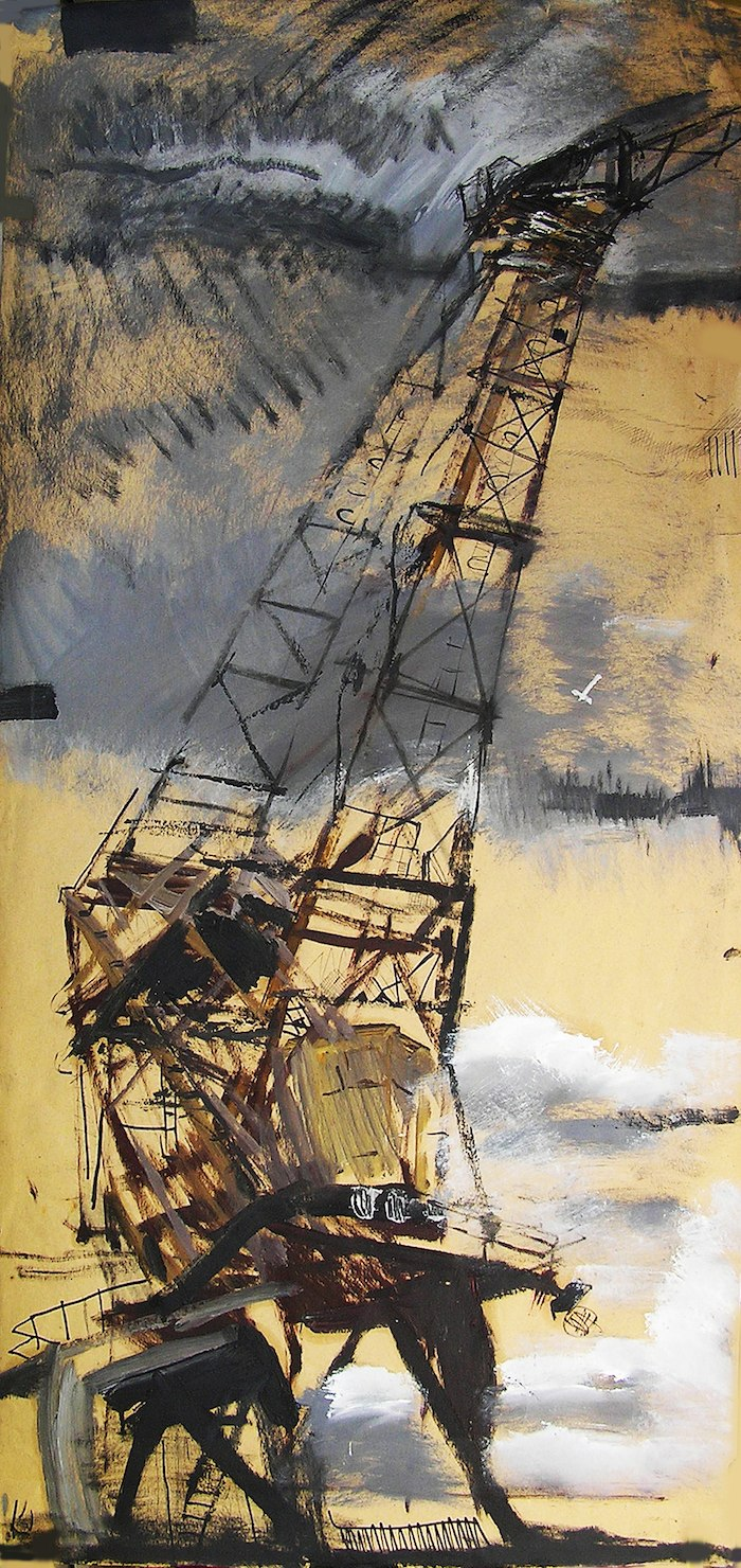 """Crane named """"Hans"""" painting on Paper"""
