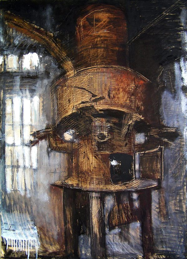 Blast furnace factory industrialPainting