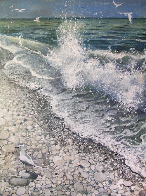 SEA painting acrylic